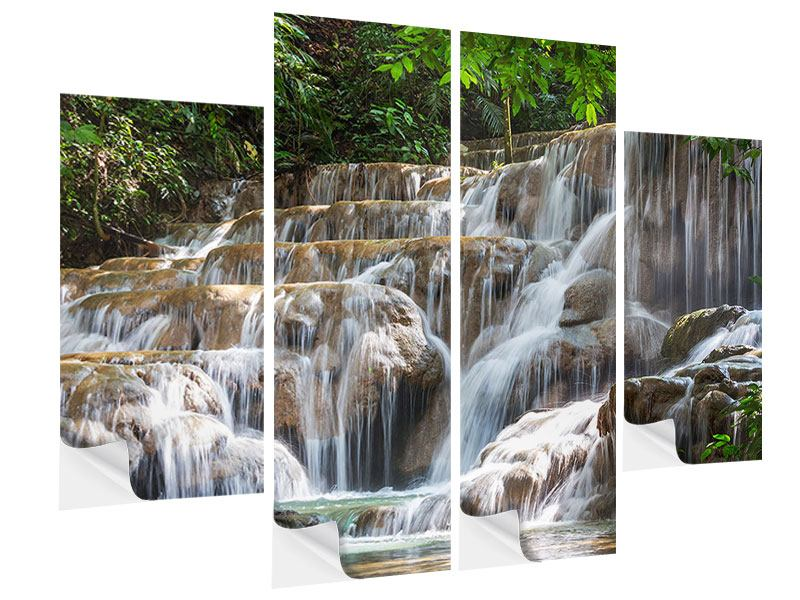 Klebeposter 4-teilig Mexikanischer Wasserfall