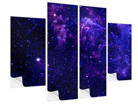 Klebeposter 4-teilig Ein Himmel voll Sterne