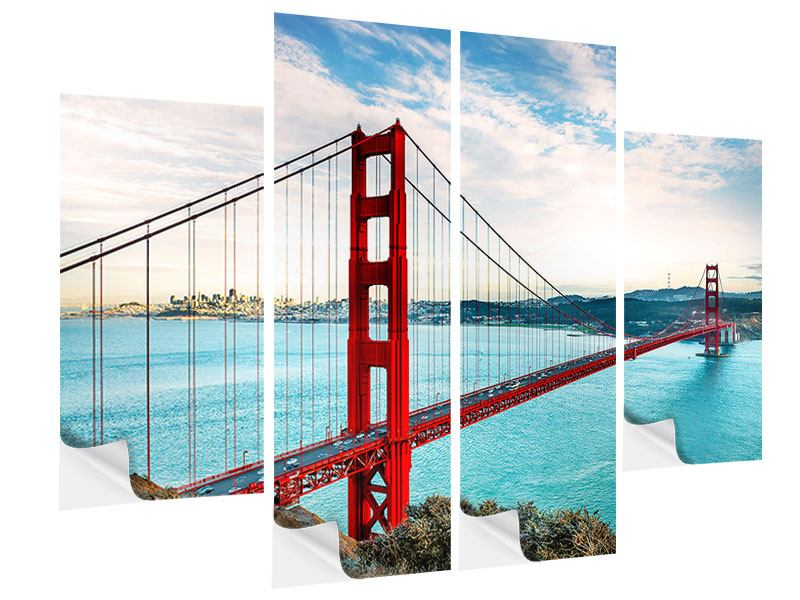 Klebeposter 4-teilig Golden Gate Bridge