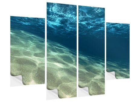Klebeposter 4-teilig Unter dem Wasser