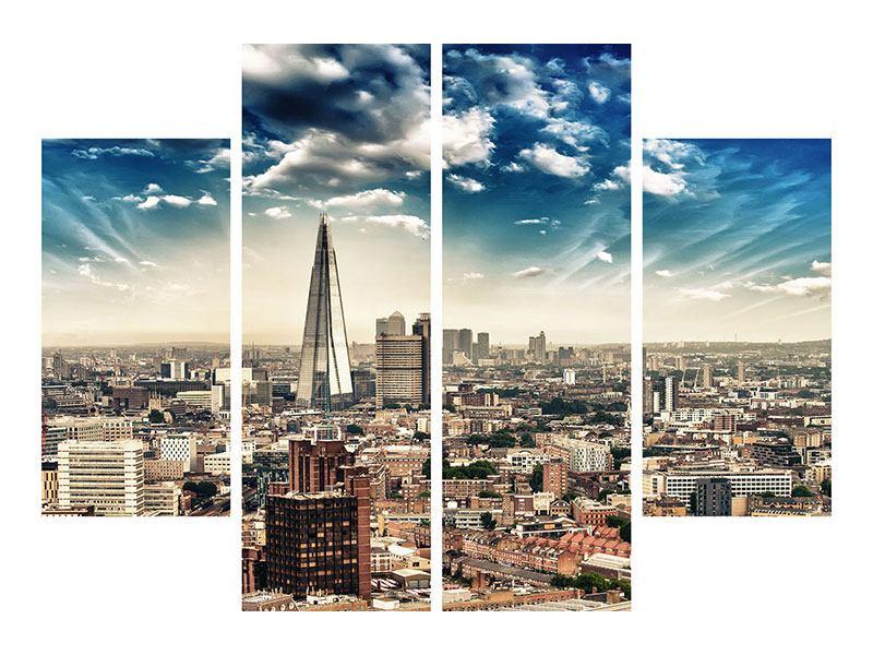 Klebeposter 4-teilig Skyline Über den Dächern von London