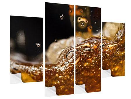 Klebeposter 4-teilig Cognac