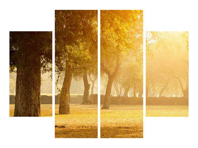Klebeposter 4-teilig Romantik unter Bäumen