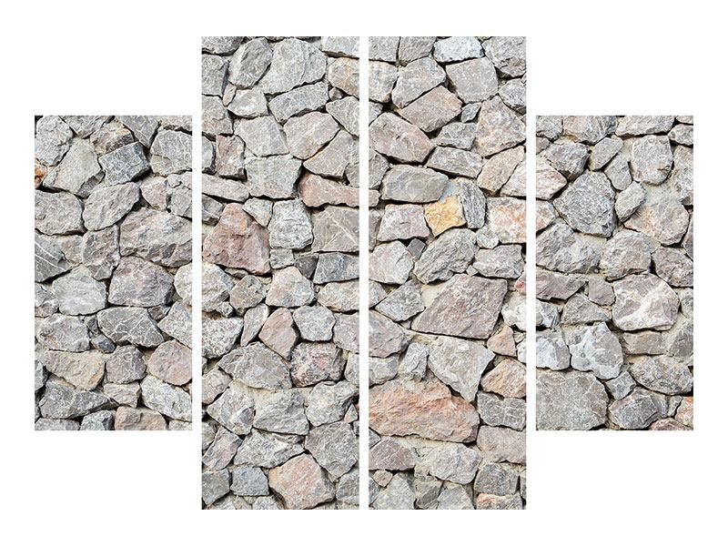 Klebeposter 4-teilig Grunge-Stil Mauer