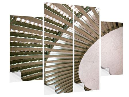 Klebeposter 4-teilig Abstraktes Rad