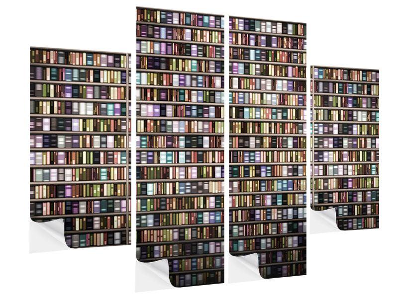 Klebeposter 4-teilig Bücherregal