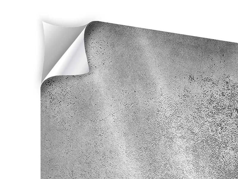 Klebeposter 4-teilig Graue Wandschattierungen