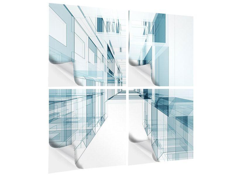 Klebeposter 4-teilig Raum der Räume