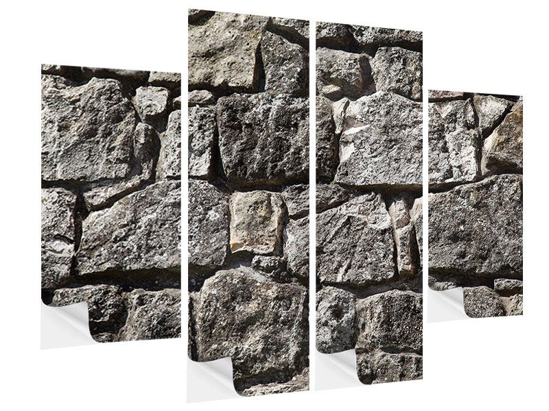 Klebeposter 4-teilig Grosses Mauerwerk