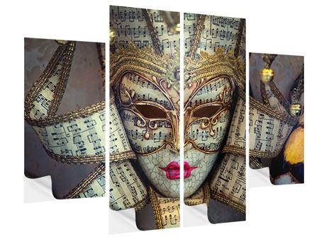 Klebeposter 4-teilig Venezianische Maske