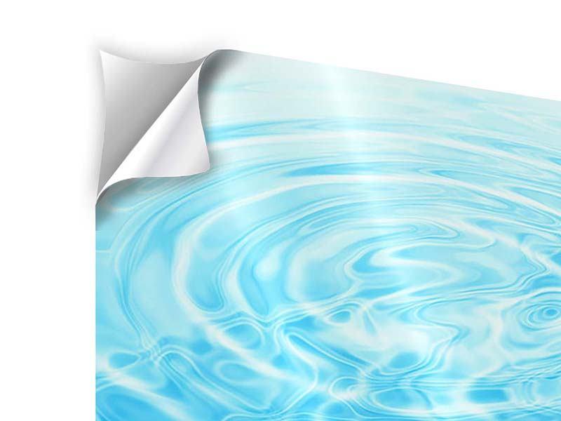 Klebeposter 4-teilig Abstraktes Wasserbad