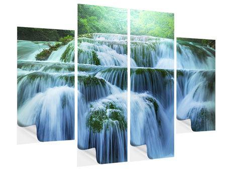 Klebeposter 4-teilig Gigantischer Wasserfall