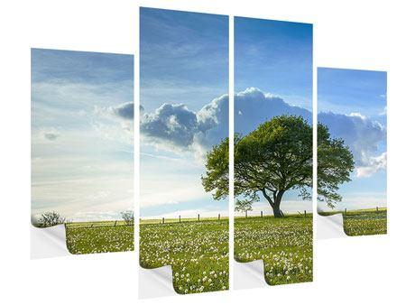 Klebeposter 4-teilig Frühlingsbaum