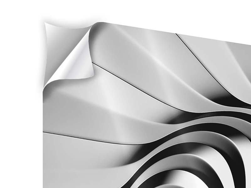 Klebeposter 4-teilig Abstrakte Spirale