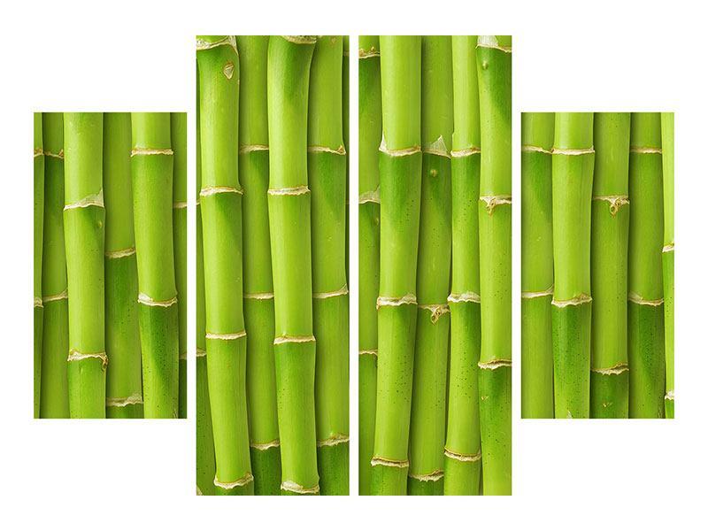 Klebeposter 4-teilig Bambuswand