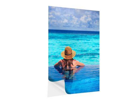 Klebeposter Der Pool ins Meer