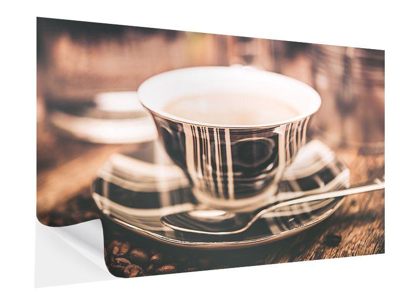 Klebeposter Der Kaffee ist fertig