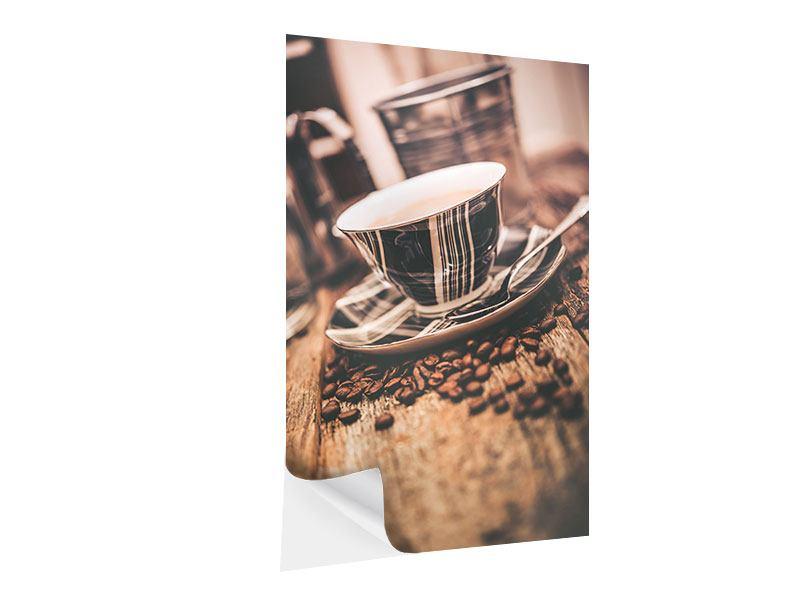 Klebeposter Die Tasse Kaffee