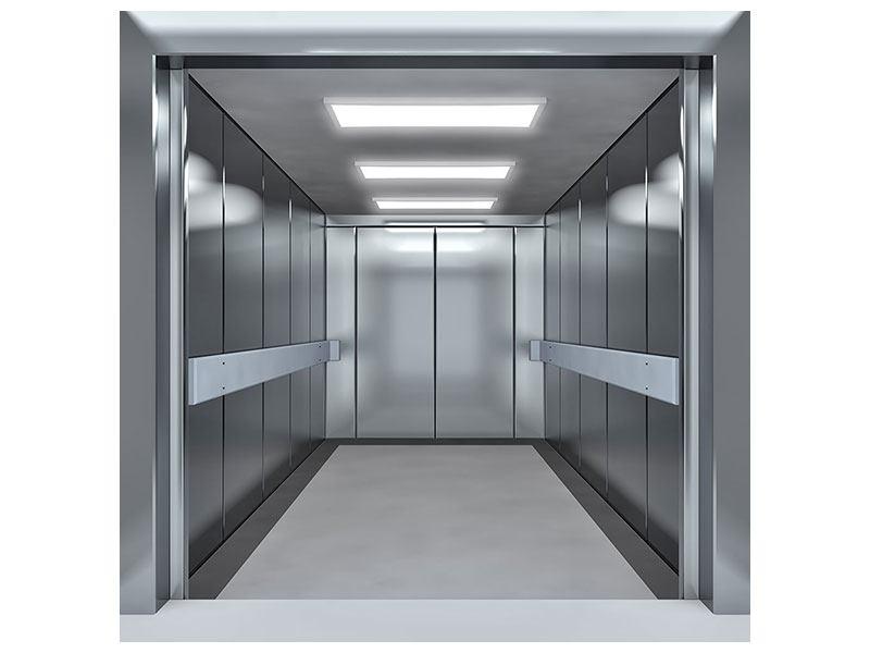 Klebeposter Aufzug