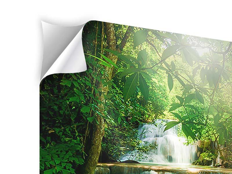 Klebeposter Wasserfall Thailand