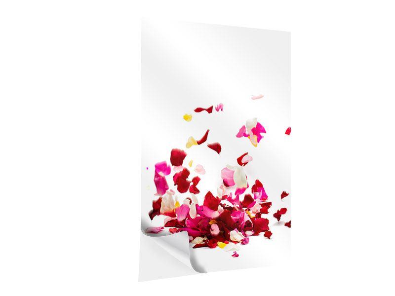 Klebeposter Auf Rosenblätter gebettet
