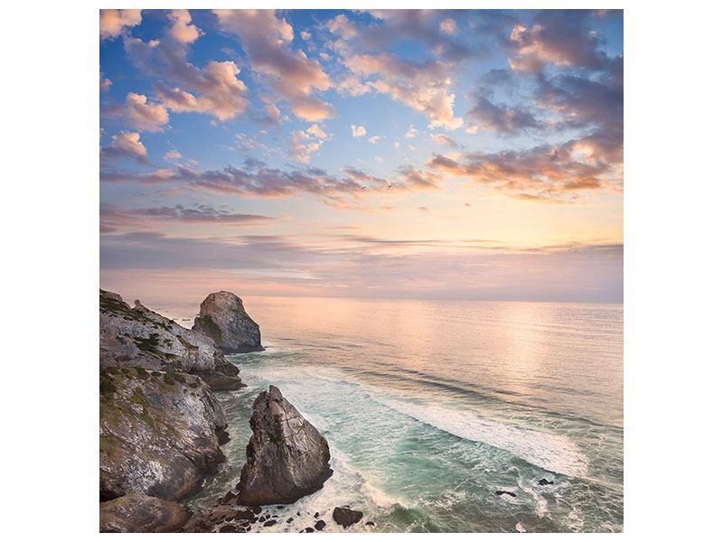 Klebeposter Romantischer Sonnenuntergang am Meer