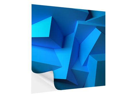 Klebeposter 3D-Abstraktion