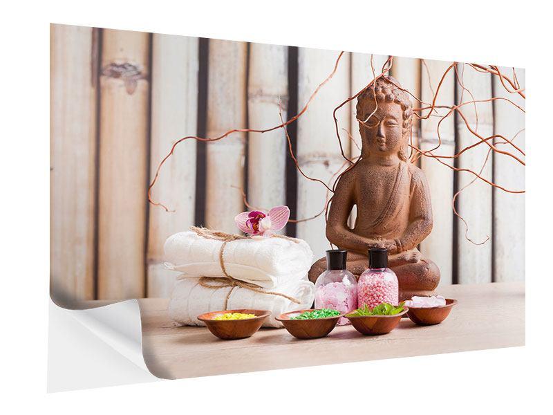 Klebeposter Buddha + Wellness