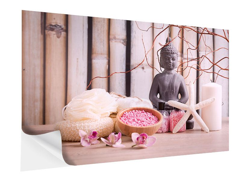Klebeposter Spa + Buddha