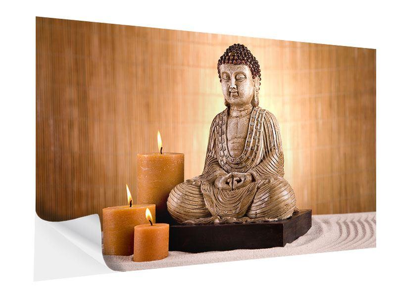 Klebeposter Buddha in der Meditation