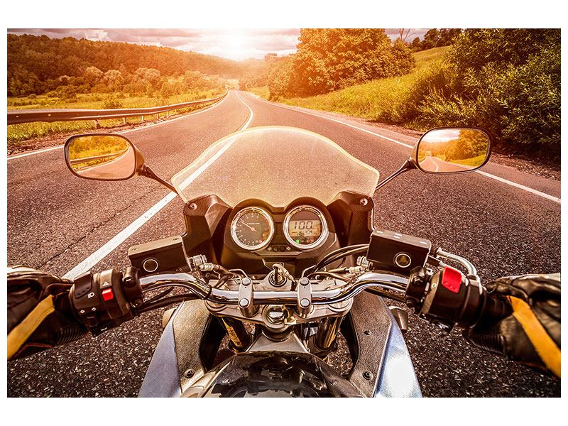 Klebeposter Motorrad-Tour