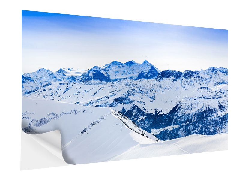 Klebeposter Die Schweizer Alpen