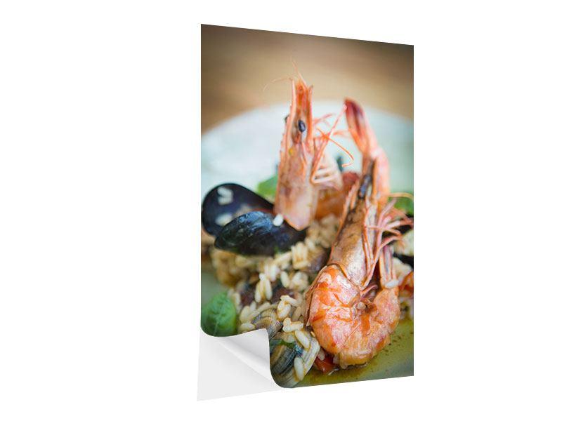 Klebeposter Meeresfrüchte
