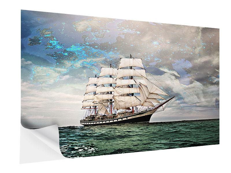 Klebeposter Segelschiff