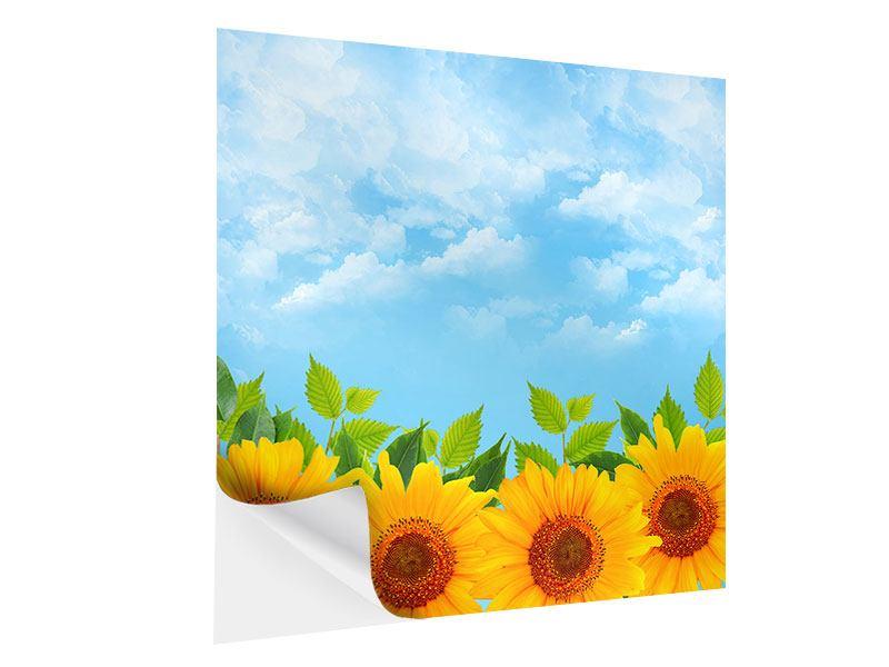 Klebeposter Sonnen Flower Power