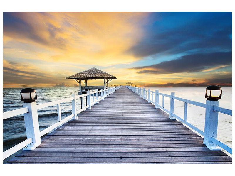Klebeposter Die Brücke ins Meer