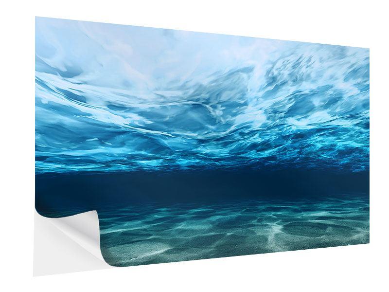 Klebeposter Lichtspiegelungen unter Wasser
