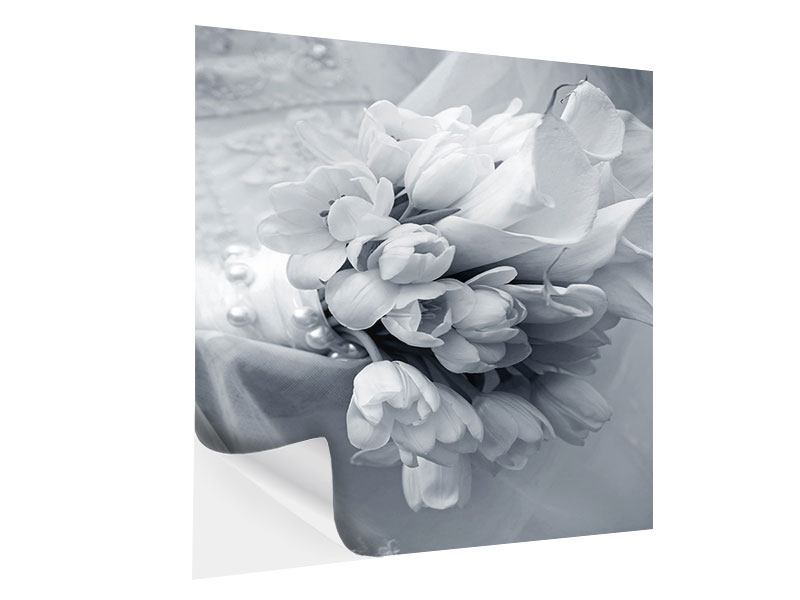 Klebeposter Romantisches Tulpenbukett