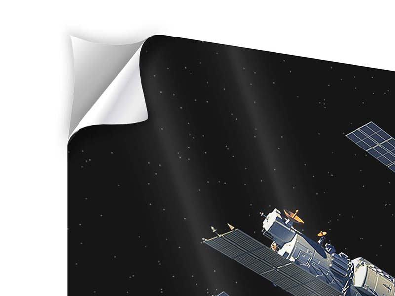 Klebeposter Raumstation