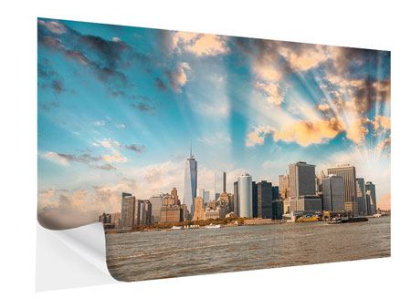 Klebeposter Skyline New York from the other Side