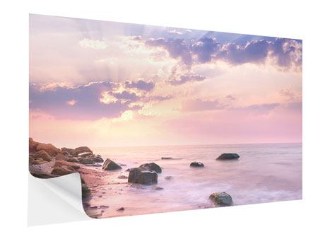 Klebeposter Sonnenaufgang am Meer