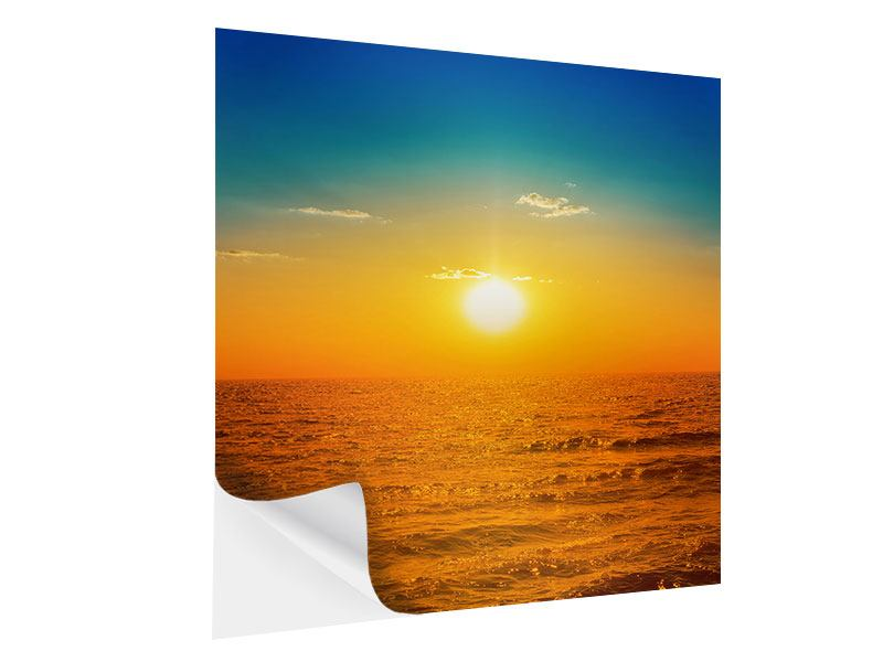 Klebeposter Das Meer im Sonnenuntergang