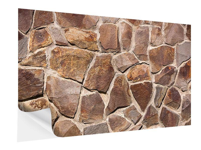 Klebeposter Designmauer