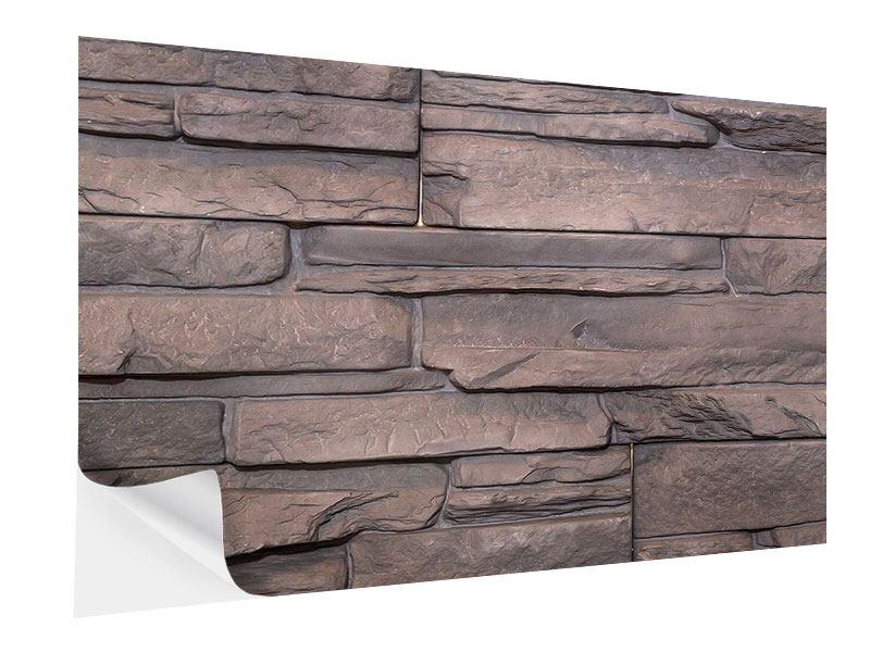 Klebeposter Luxusmauer