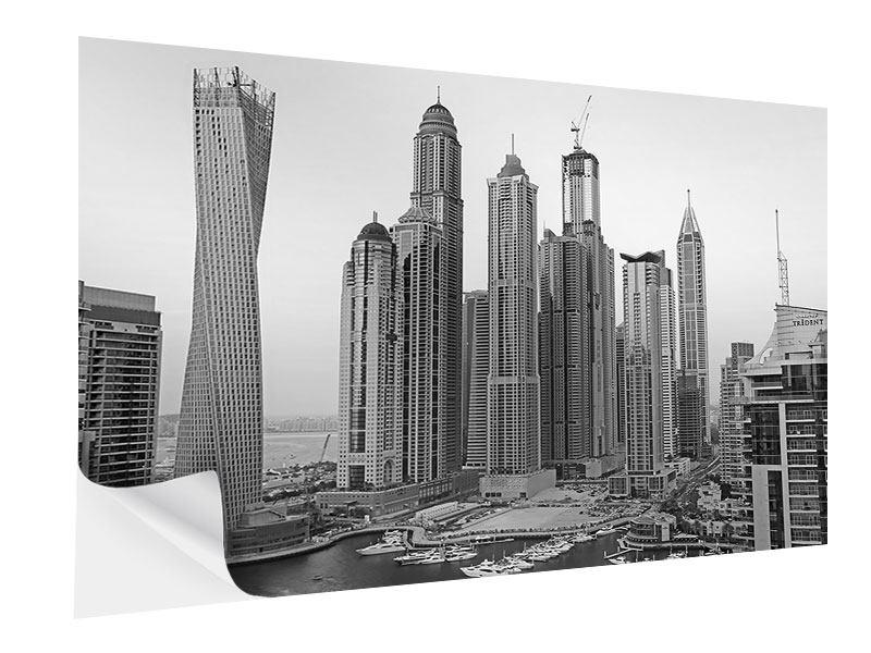 Klebeposter Majestätische Wolkenkratzer in Dubai