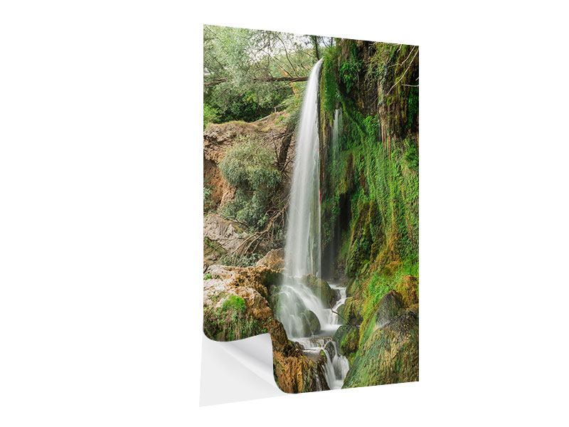 Klebeposter Klarer Wasserfall