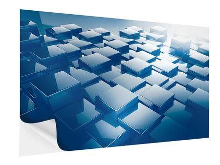 Klebeposter 3D-Cubes