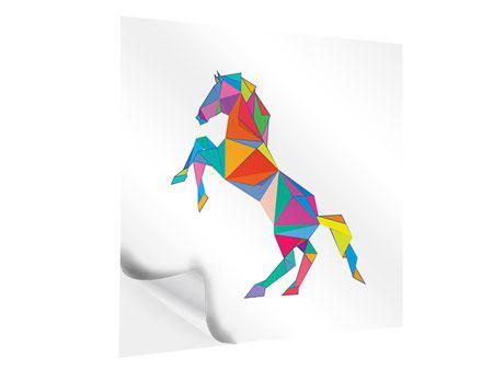 Klebeposter Origami Pferd