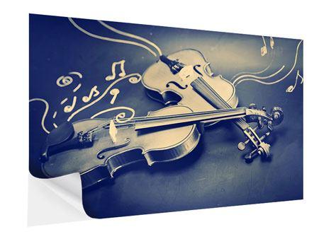 Klebeposter Geigen