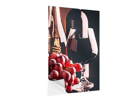 Klebeposter Rotwein